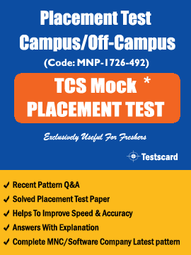 TCS Freshers MNC Placement Mock practice Test